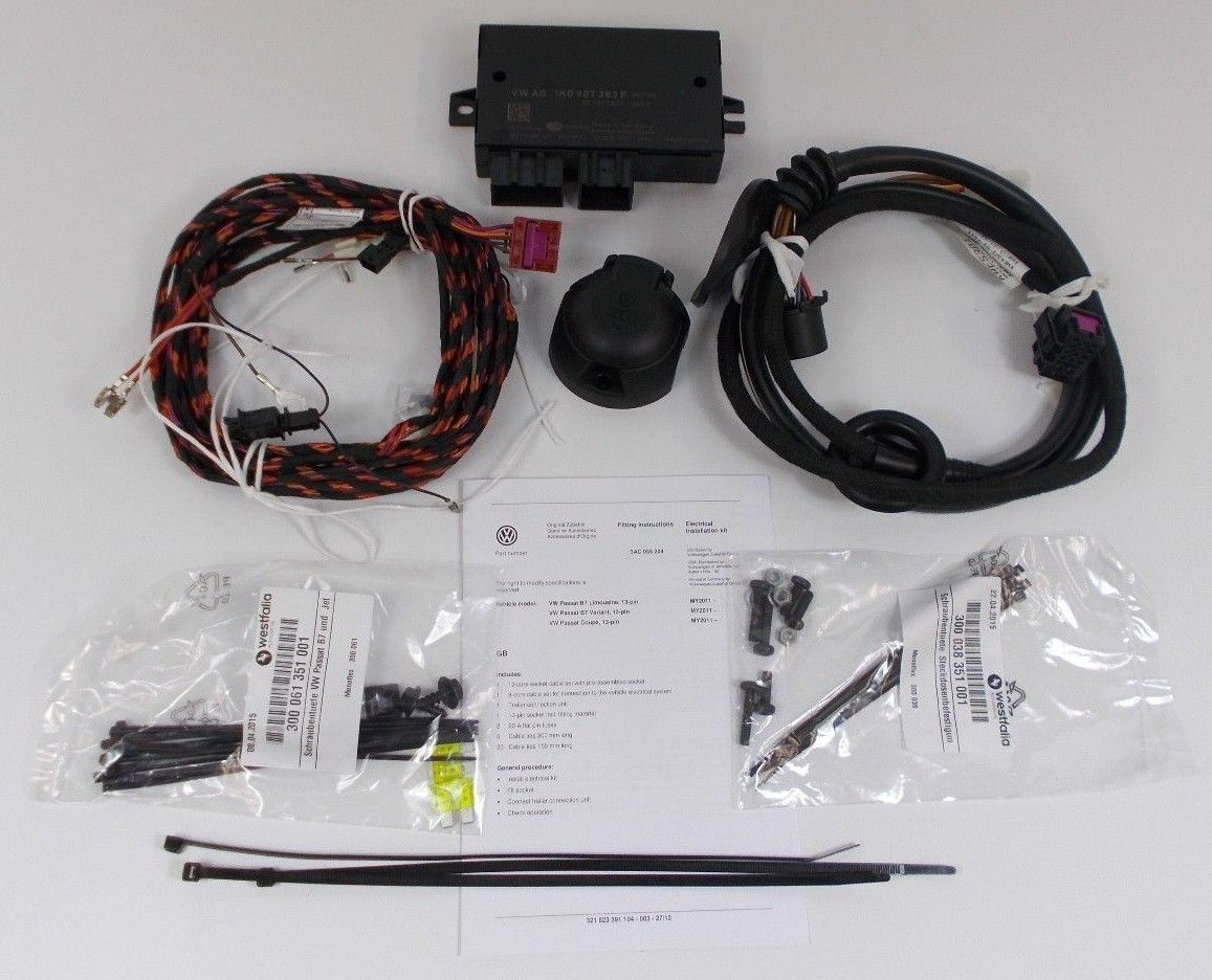 Remarkable Genuine Vw Passat B7 Cc 13 Pin Towbar Towing Electrics Wiring Kit Ecu Wiring Cloud Usnesfoxcilixyz