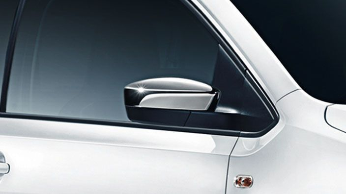 New GENUINE VW UP 2012-16 accessory chrome wing mirror cover caps 1S0072530 DML