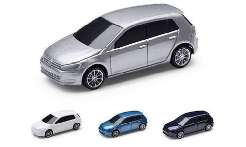 Pack Of Four Genuine Vw Golf Mk7 1 64 Scale Pull Back Toy