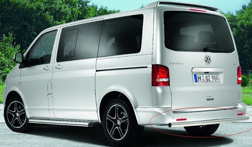 VW TRANSPORTER T5 T6 REAR BUMPER SPORTLINE STYLING PIPE TUBE BAR ...